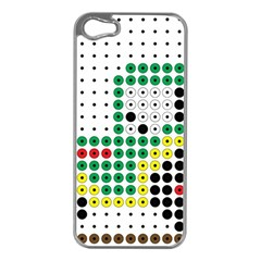 Tractor Perler Bead Apple iPhone 5 Case (Silver)