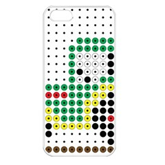 Tractor Perler Bead Apple iPhone 5 Seamless Case (White)