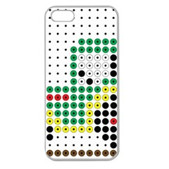 Tractor Perler Bead Apple Seamless iPhone 5 Case (Clear)