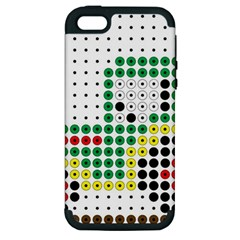 Tractor Perler Bead Apple iPhone 5 Hardshell Case (PC+Silicone)