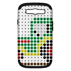 Tractor Perler Bead Samsung Galaxy S III Hardshell Case (PC+Silicone)