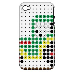 Tractor Perler Bead Apple iPhone 4/4S Hardshell Case (PC+Silicone)
