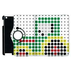 Tractor Perler Bead Apple iPad 2 Flip 360 Case
