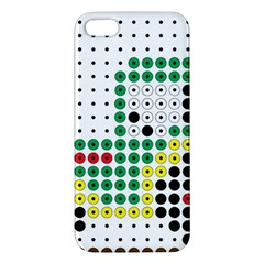 Tractor Perler Bead Apple iPhone 5 Premium Hardshell Case
