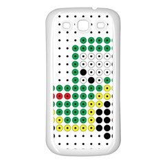 Tractor Perler Bead Samsung Galaxy S3 Back Case (White)