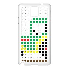 Tractor Perler Bead Samsung Galaxy Note 3 N9005 Case (White)