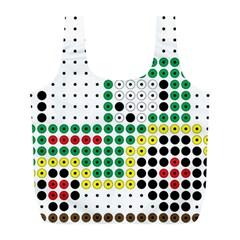 Tractor Perler Bead Full Print Recycle Bags (L)