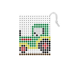 Tractor Perler Bead Drawstring Pouches (Small)