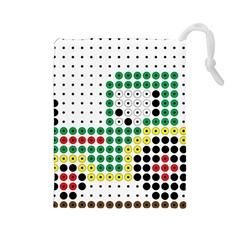 Tractor Perler Bead Drawstring Pouches (Large)