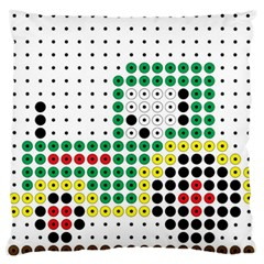 Tractor Perler Bead Large Flano Cushion Case (Two Sides)