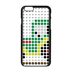 Tractor Perler Bead Apple iPhone 6/6S Black Enamel Case