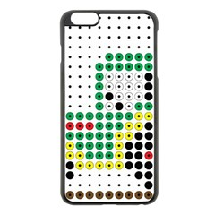 Tractor Perler Bead Apple iPhone 6 Plus/6S Plus Black Enamel Case