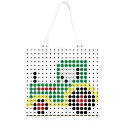 Tractor Perler Bead Grocery Light Tote Bag