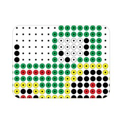 Tractor Perler Bead Double Sided Flano Blanket (Mini)