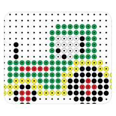 Tractor Perler Bead Double Sided Flano Blanket (Small)