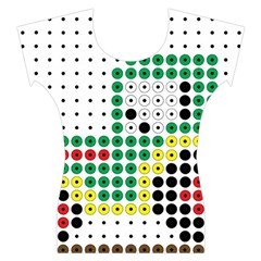 Tractor Perler Bead Women s Cap Sleeve Top