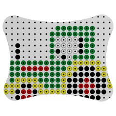 Tractor Perler Bead Jigsaw Puzzle Photo Stand (Bow)