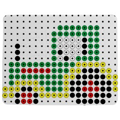 Tractor Perler Bead Jigsaw Puzzle Photo Stand (Rectangular)