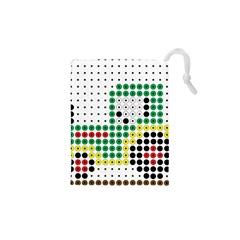 Tractor Perler Bead Drawstring Pouches (XS)