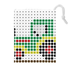 Tractor Perler Bead Drawstring Pouches (Extra Large)