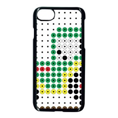 Tractor Perler Bead Apple iPhone 7 Seamless Case (Black)
