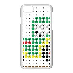 Tractor Perler Bead Apple iPhone 7 Seamless Case (White)