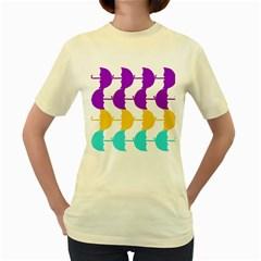 Umbrella Women s Yellow T-Shirt