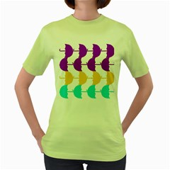 Umbrella Women s Green T-Shirt