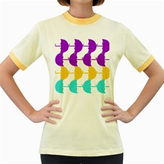 Umbrella Women s Fitted Ringer T-Shirts