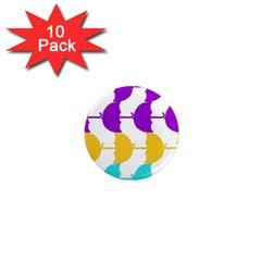 Umbrella 1  Mini Magnet (10 pack)