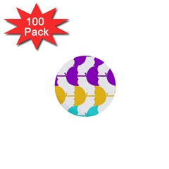 Umbrella 1  Mini Buttons (100 pack)