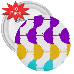 Umbrella 3  Buttons (10 pack)