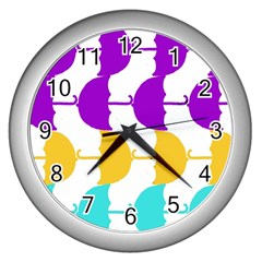 Umbrella Wall Clocks (Silver)