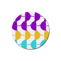 Umbrella Rubber Round Coaster (4 pack)