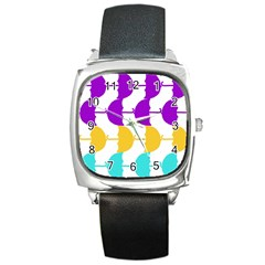 Umbrella Square Metal Watch
