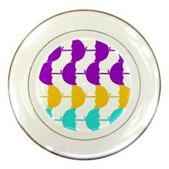 Umbrella Porcelain Plates