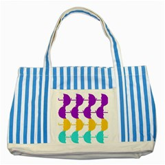 Umbrella Striped Blue Tote Bag