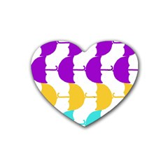Umbrella Heart Coaster (4 pack)