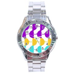 Umbrella Stainless Steel Analogue Watch