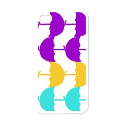 Umbrella Apple iPhone 4 Case (White)