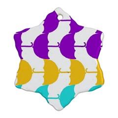Umbrella Snowflake Ornament (2-Side)