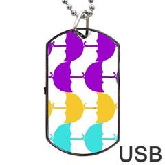 Umbrella Dog Tag USB Flash (One Side)
