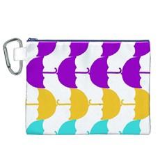 Umbrella Canvas Cosmetic Bag (XL)