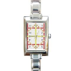 Vertical Horizontal Rectangle Italian Charm Watch
