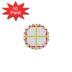 Vertical Horizontal 1  Mini Buttons (10 pack)