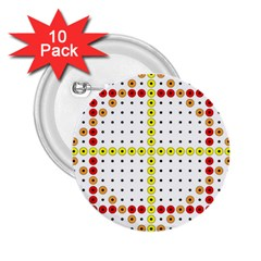 Vertical Horizontal 2.25  Buttons (10 pack)