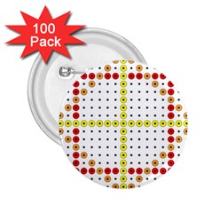 Vertical Horizontal 2.25  Buttons (100 pack)