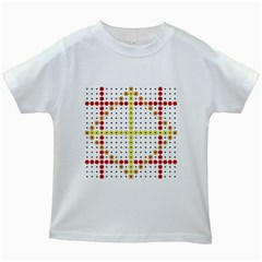 Vertical Horizontal Kids White T-Shirts