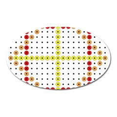 Vertical Horizontal Oval Magnet