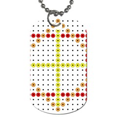 Vertical Horizontal Dog Tag (One Side)